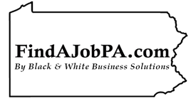 FindAJobPA.com by Black & White Business Solutions | Find Jobs. Hire Better Employees. Build Your Career. Logo