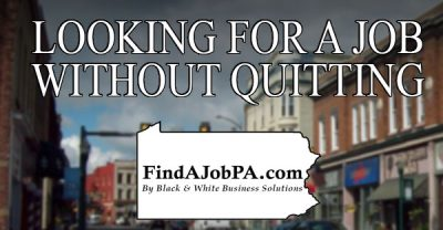 Looking for a job without quitting